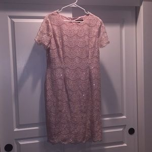 Blush pink dress size 12